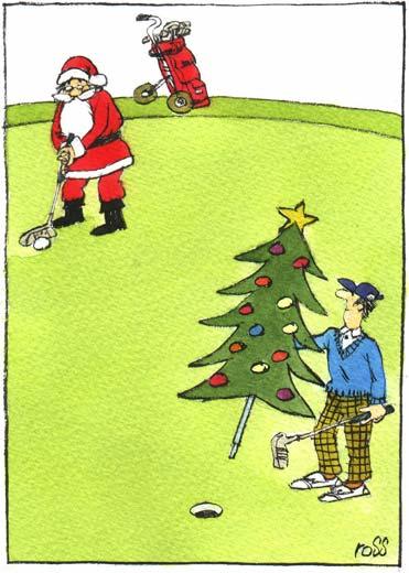 GrahamCameron Illustration Greetings Cards - Golf christmas cards